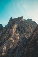 Relaxing massive rocky mountain