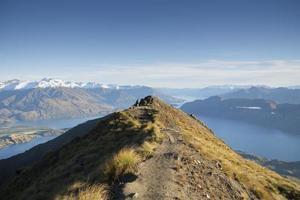 New Zealand mountain summit view photo
