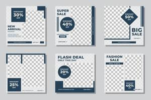 Minimalist fashion sale social media post vector