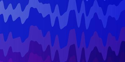 Blue, purple background with wavy lines.