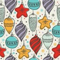 Christmas seamless pattern with toys vector