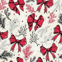 Christmas seamless pattern with christmas bows