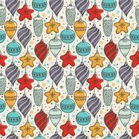 Christmas seamless pattern with christmas symbols vector