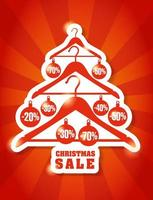 Christmas and new year background sale on the tree.