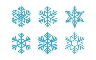 Collection of snowflakes set vector