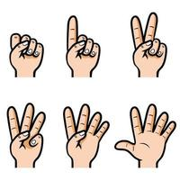 Counting Hand Set vector