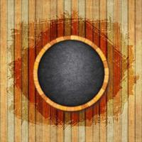 Abstract wood background with black chalkboard frame vector