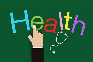 haga clic en diseño de salud sanitaria vector