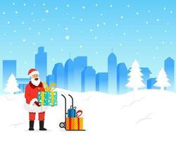 Santa Claus As Courier Man