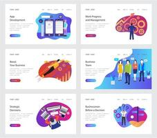 Landing Pages Set vector
