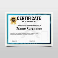 Creative certificate of appreciation award template with luxury and modern pattern. Vector illustration