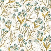 Seamless wildflowers pattern