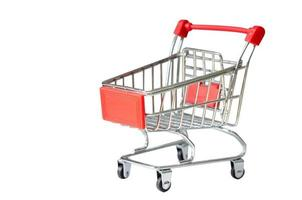 Small cart on a white background