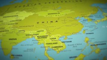 volo mappa del mondo su sfondo video