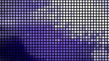 les diodes électroluminescentes clignotent avec les données video