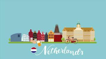 turismo netherland motion graphic emergente