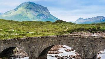 Bridge at Sligachan in Scotland video
