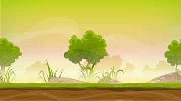 Seamless Forest Landscape Animation For Ui Game