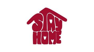 Stay Home Animation Logo Icon.