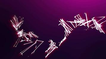 fundo de partículas abstratas video