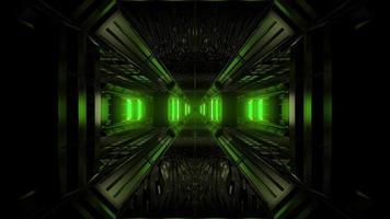 sfondo del tunnel scifi spazio scuro video