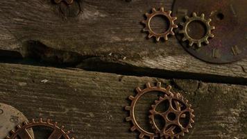 Imágenes de archivo giratorias tomadas de caras de relojes antiguas y desgastadas: caras de relojes 059