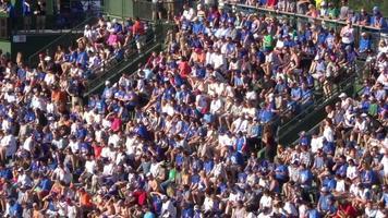 multidão em um jogo de beisebol 4k