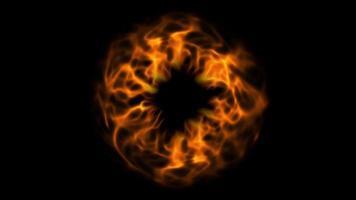 video de efecto de teletransportación de fuego circular