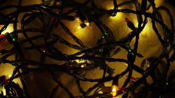 Plano cinematográfico y giratorio de luces navideñas ornamentales - navidad 051