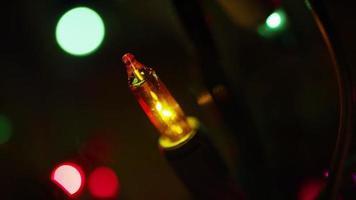 Plano cinematográfico y giratorio de luces navideñas ornamentales - navidad 011