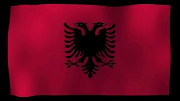 Albania Flag 4K Motion Loop Stock Video