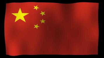 China Flagge 4k Motion Loop Stock Video