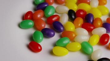 Rotating shot of colorful Easter jelly beans - EASTER 087
