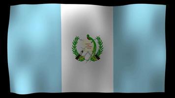 vídeo de stock de bucle de movimiento 4k de bandera guatemalteca