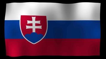 estoque de loop de movimento 4k da bandeira da Eslováquia