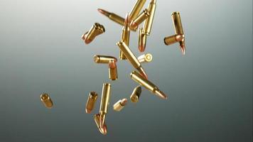 balas caindo e quicando em câmera ultra lenta (1.500 fps) em uma superfície reflexiva - balas fantasma 030