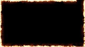 4k vuur frame achtergrondclip