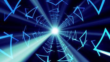 animación 3d de túnel futurista de bucle sin interrupción video