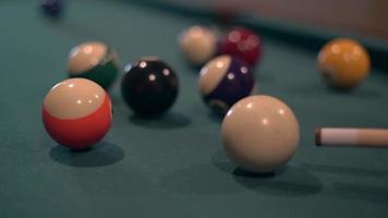 Person Hitting Pool Balls 4k video