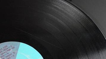 timelapse de disco de vinil