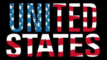 bandera de estados unidos con máscara de tipo en primer plano. Estados Unidos.
