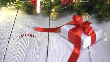 Hand Writing Merry Christmas Greetings video