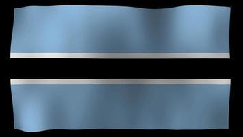 bandeira de botswana 4k motion loop video estoque