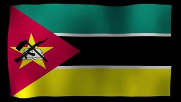 Mozambique flag 4k motion loop stock video