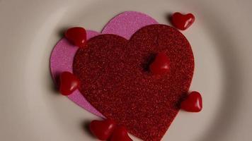 Imágenes de archivo giratorias tomadas de decoraciones y dulces de San Valentín - San Valentín 0107
