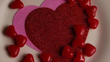 Imágenes de archivo giratorias tomadas de decoraciones y dulces de San Valentín - San Valentín 0118