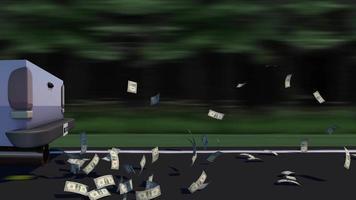 gráfico de movimiento de 4k de dinero agotado