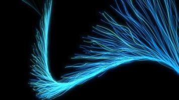 partículas abstratas mágica design elegante efeito de vídeo de fundo