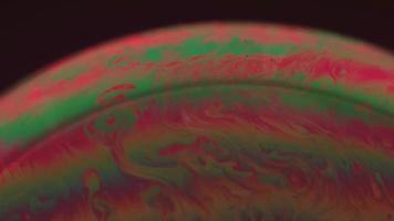 planeta bolha esmeralda e laranja