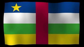 La bandera de la república centroafricana 4k motion loop stock video
